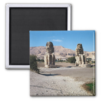 The Colossi of Memnon, statues of Amenhotep Refrigerator Magnet