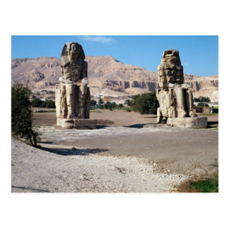 The Colossi of Memnon, statues of Amenhotep Postcards