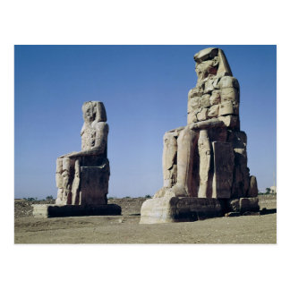 The Colossi of Memnon, statues of Amenhotep Postcard