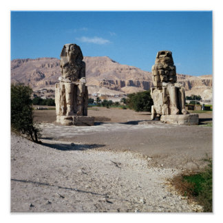 The Colossi of Memnon, statues of Amenhotep Posters