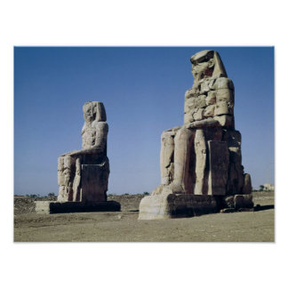 The Colossi of Memnon, statues of Amenhotep Poster