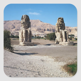 The Colossi of Memnon, statues of Amenhotep Square Stickers