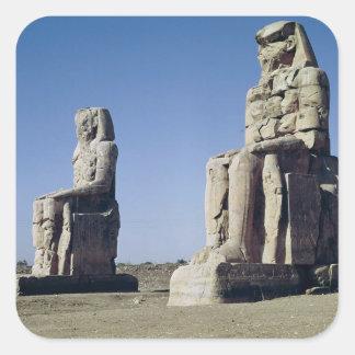 The Colossi of Memnon, statues of Amenhotep Square Sticker