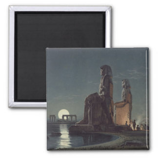 The Colossi of Memnon, Thebes, one of 24 illustrat Magnet