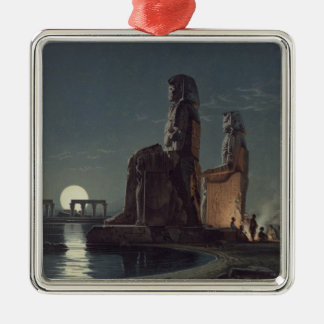 The Colossi of Memnon, Thebes, one of 24 illustrat Metal Ornament