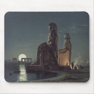 The Colossi of Memnon, Thebes, one of 24 illustrat Mouse Pad