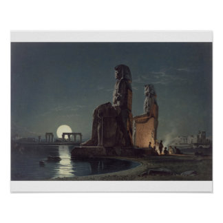 The Colossi of Memnon, Thebes, one of 24 illustrat Poster