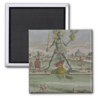 The Colossus of Rhodes, detail of the statue strad 2 Inch Square Magnet