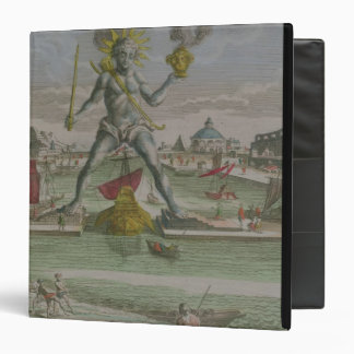 The Colossus of Rhodes, detail of the statue strad 3 Ring Binder