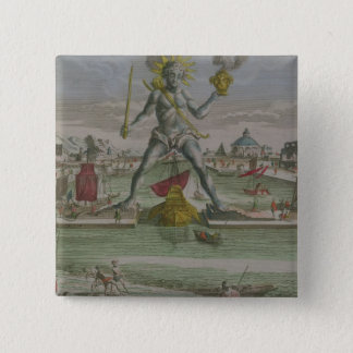The Colossus of Rhodes, detail of the statue strad Button