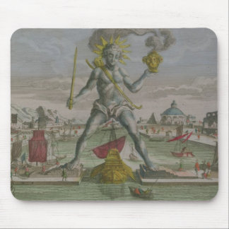 The Colossus of Rhodes, detail of the statue strad Mouse Pad