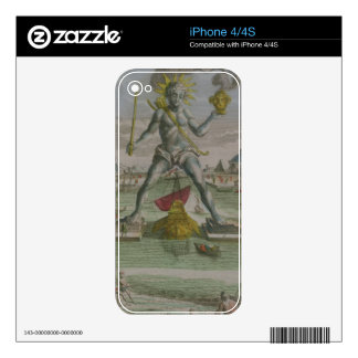 The Colossus of Rhodes, detail of the statue strad Skins For iPhone 4