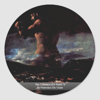 "The Colossus (Or Panic "")"" By Francisco De Goya Classic Round Sticker"