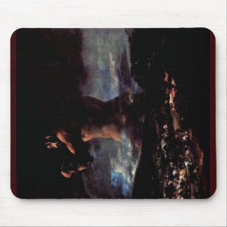 """The Colossus (Or Panic """")"""" By Francisco De Goya Mouse Pad"""