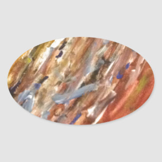 The Colour Trip Oval Sticker