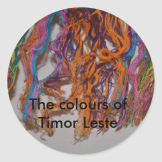 The colours of Timor Leste Classic Round Sticker