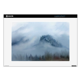 """The Columbia Gorge In The Fog 15"""" Laptop Skin"""