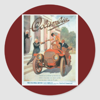 The Columbia Motor Car Company - Vintage Round Stickers