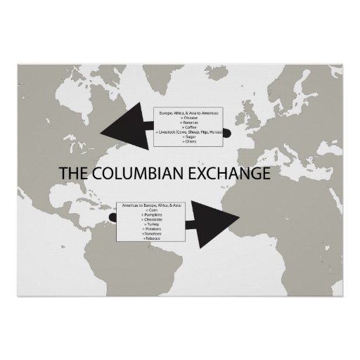 columbian exchange paper The columbian exchange had many effects on europe because it spreadimportant crops (such as corn), as well as deadly diseases (such assyphilus.