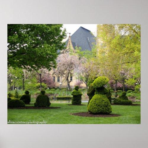 The Columbus Topiary Garden print