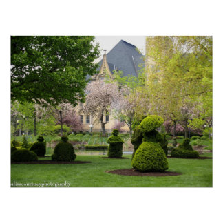 The Columbus Topiary Garden Poster