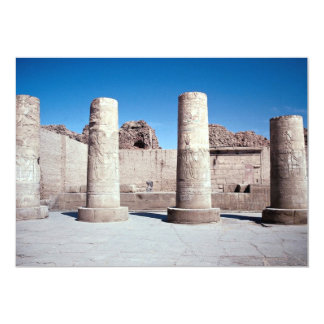 """The columns in the courtyard, Kom Ombo Temple, Egy 5"""" X 7"""" Invitation Card"""