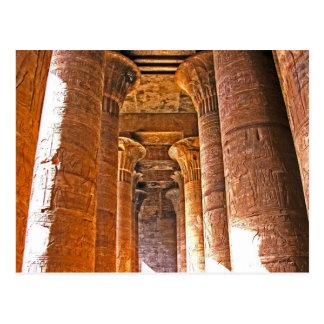 The Columns of Edfu Temple, Egypt Postcard
