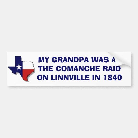 The comanche raid on linnville 1840 bumper sticker