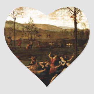 The Combat of Love and Chastity by Andrea Mantegna Heart Sticker