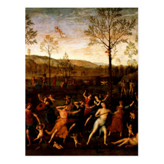 The Combat of Love and Chastity by Andrea Mantegna Postcard