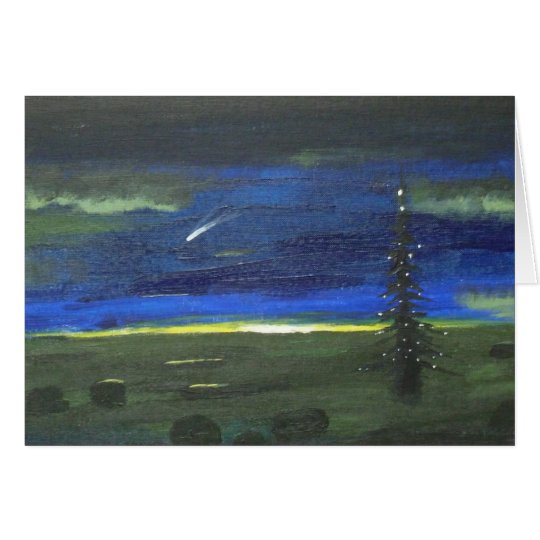 The Comet and the Christmas Tree Card