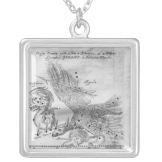 The Comet discovered and observed by Johannes Square Pendant Necklace