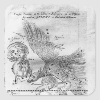 The Comet discovered and observed by Johannes Square Sticker
