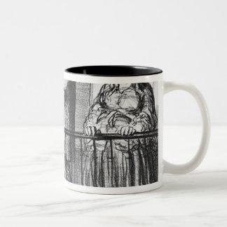 The comet, Parisiens incredules Two-Tone Coffee Mug