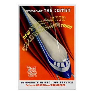 The Comet - Vintage Train Poster
