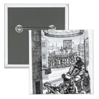 The Comical Romance' by Paul Scarron 2 Inch Square Button