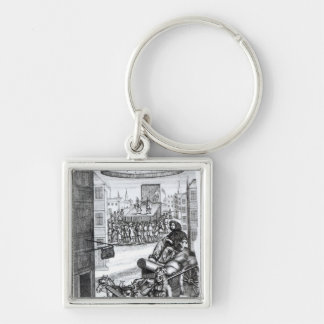 The Comical Romance' by Paul Scarron Silver-Colored Square Keychain