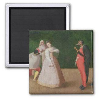 The Commedia dell'Arte Company 2 Inch Square Magnet