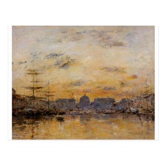 The Commerce Basin, Le Havre by Eugene Boudin Postcard