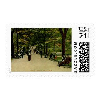 The Common, Boston, MA 1915 Vintage Postage Stamps