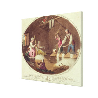 The Common Method of Beetling, Scutching and Hackl Canvas Print