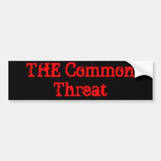 THE Common Threat Car Bumper Sticker