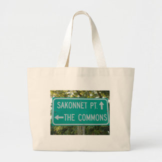 The Commons, Sakonnet Point - Little Compton, RI Large Tote Bag
