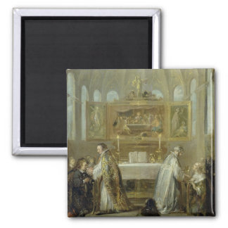 The Communion, 1649-51 2 Inch Square Magnet
