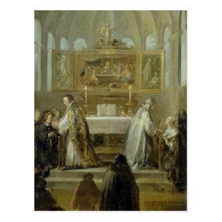 The Communion, 1649-51 Postcard