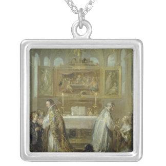 The Communion, 1649-51 Square Pendant Necklace
