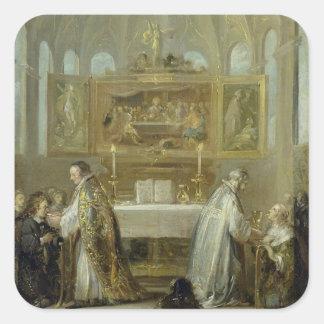 The Communion, 1649-51 Square Sticker
