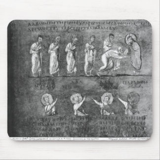The communion of six apostles mouse pad