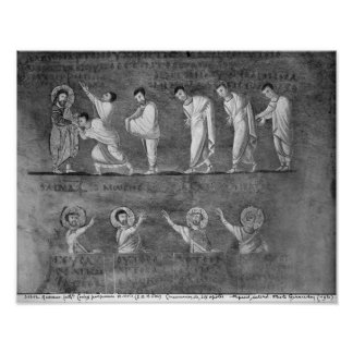 The communion of six apostles poster