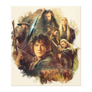 The Company and Elves of Mirkwood Stretched Canvas Prints